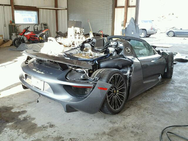 lightly used porsche 918 spyder with 92 miles heads for auction carbuzz. Black Bedroom Furniture Sets. Home Design Ideas