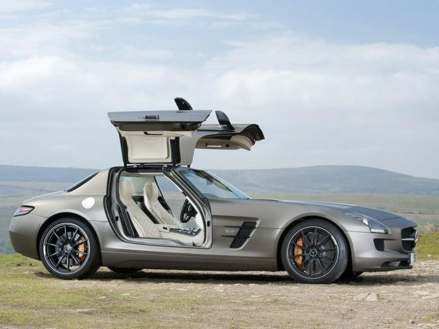 why get a new amg gt when you can get this gullwing beast instead