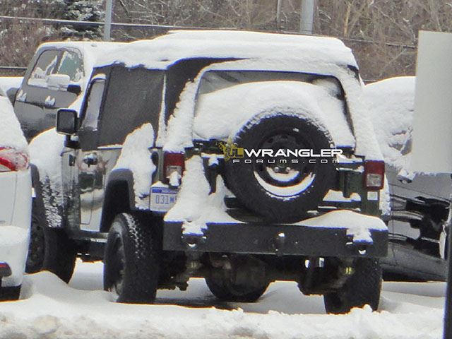 Initially The Forum Stated That The Two Door Truck Seen In These Pictures  Was Likely A Test Mule For A Single Cab Version Of The Wrangler Pickup, ...