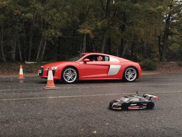 RC Audi R Vs R V Is The Drag Race You Didnt Know You Needed - Audi r8 quarter mile