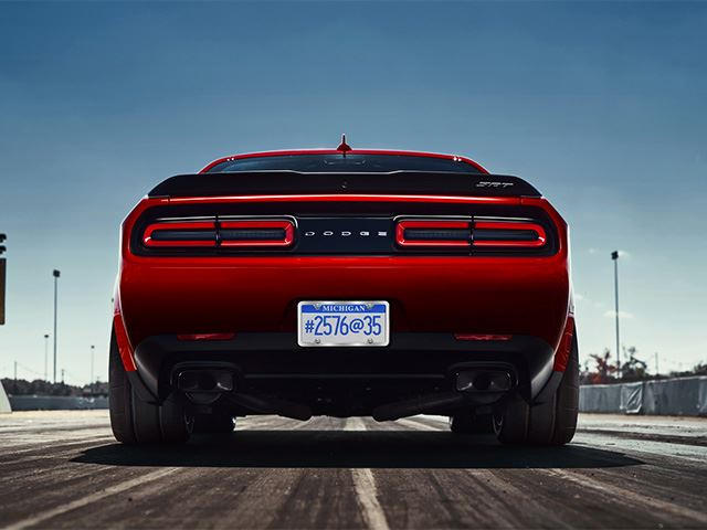 Dodge Challenger Demon Will Come With Widest Front Tires Ever Carbuzz