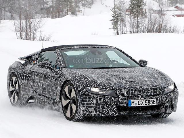 Cloth Top Bmw I8 Spyder Hoons Up A Storm On Swedish Ice Carbuzz