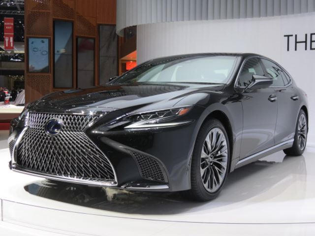new lexus ls 500h flagship hybrid sedan packs an impressive 354 hp carbuzz. Black Bedroom Furniture Sets. Home Design Ideas