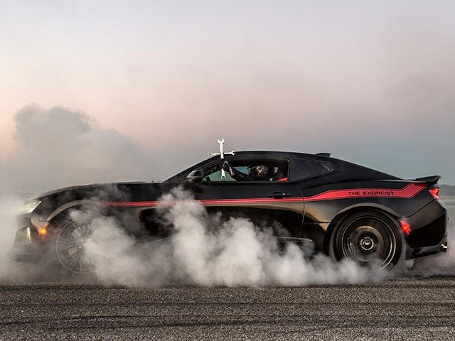 Hennessey Releases The 1 000 Hp Camaro Zl1 Exorcist Carbuzz