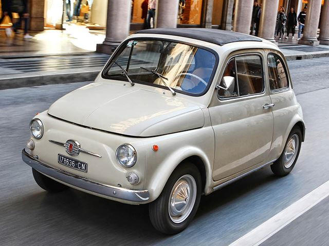 the original fiat 500 is officially a work of art carbuzz. Black Bedroom Furniture Sets. Home Design Ideas