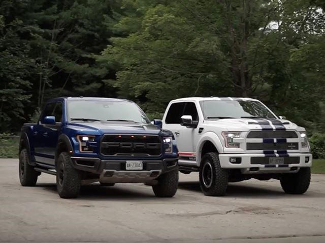 raptor compare    hp shelby   carbuzz