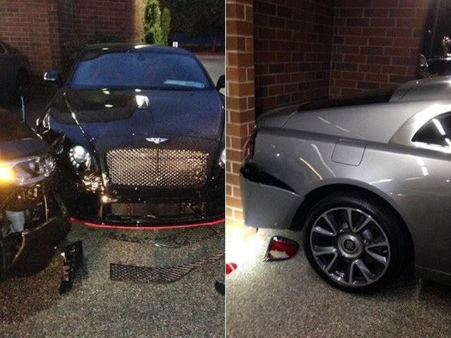this guy caused $500,000 in damage at a rolls-royce bentley