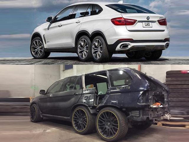 bmw 6x6 inspired by the mental mercedes amg 6x6 in the works carbuzz. Black Bedroom Furniture Sets. Home Design Ideas