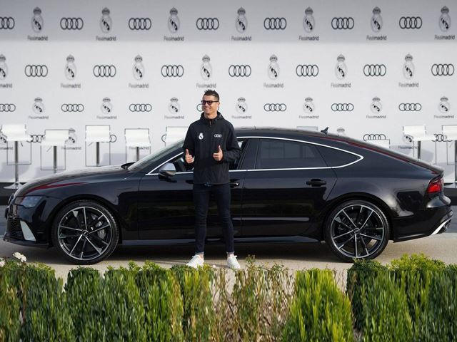 Ronaldo Given nd New Audi RS7 As Real Madrid Receive New Audis ...