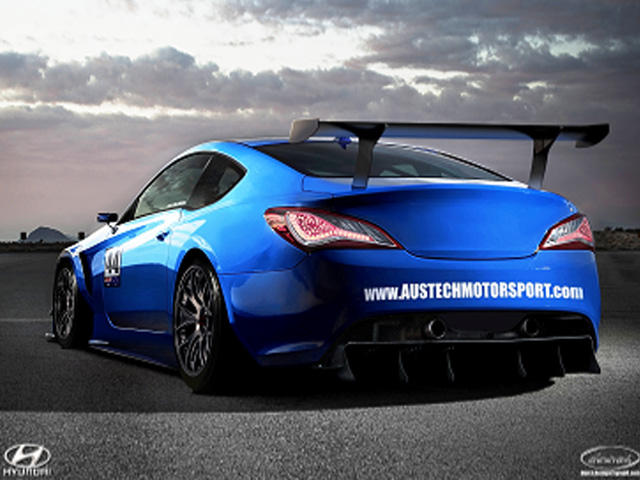 Hyundai Genesis Coupe Gt Race Car From Austech Carbuzz