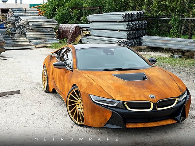 Did This 20 Year Old Singer Ruin His Bmw I8 By Wrapping It In Rust