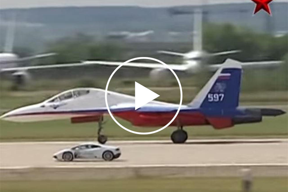 Watch A Lamborghini Huracan Race A Fighter Jet Carbuzz