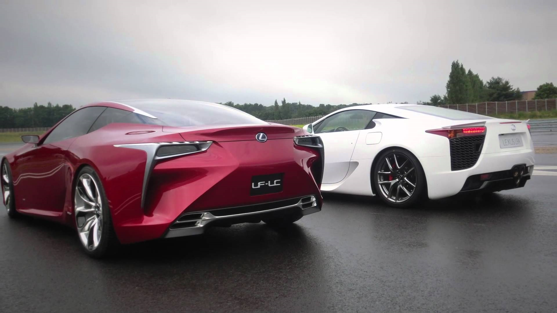 Lexus LFA and LF LC Concept Meet on the Track CarBuzz